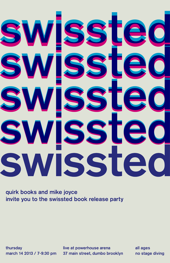 Book Launch: Swissted by Mike Joyce