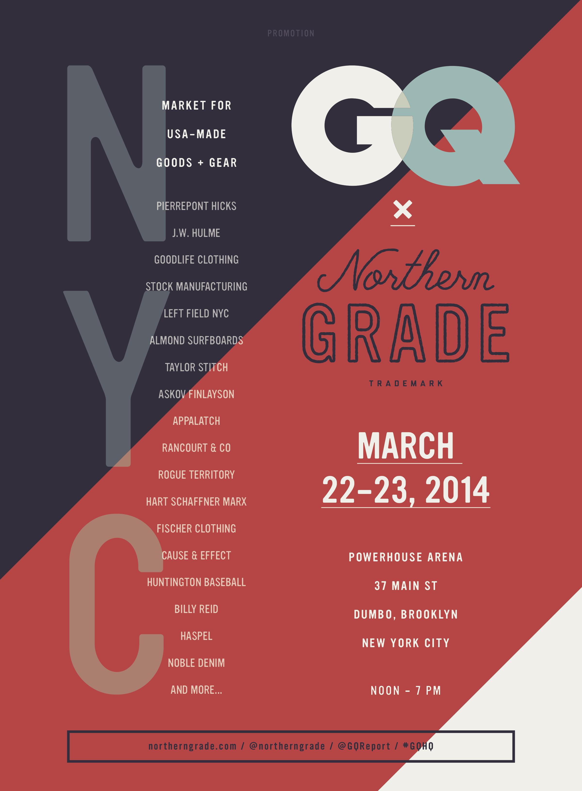 GQ x Northern Grade Pop-Up Market