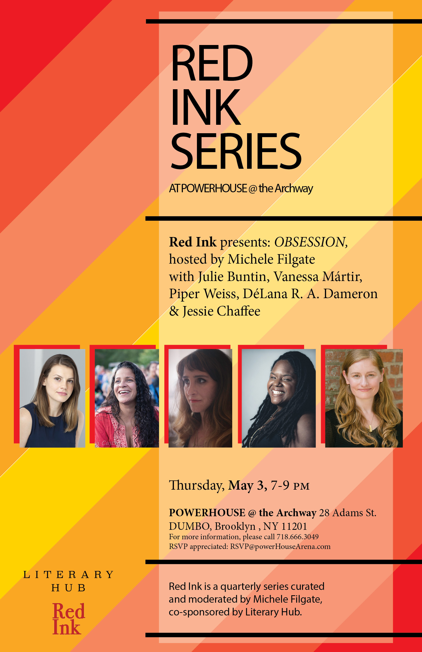 Red Ink Series: OBSESSION, hosted by Michele Filgate with Julie Buntin, Vanessa Mártir, Piper Weiss, DéLana R.A. Dameron & Jessie Chaffee