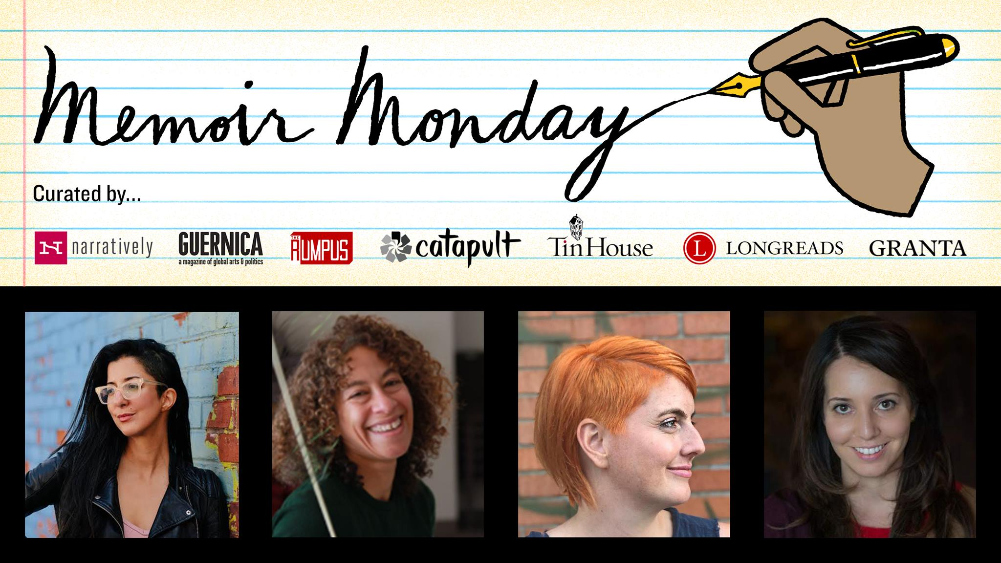 Memoir Monday: Featuring Porochista Khakpour, Jeannie Vanasco, Ash Sanders, & Dara Lurie— Hosted by Lilly Dancyger
