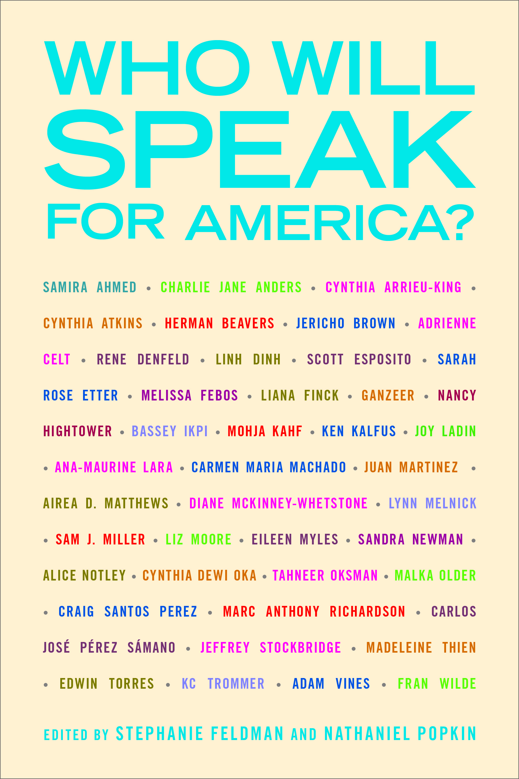 Book Launch: Who Will Speak for America? Edited by Stephanie Feldman & Nathaniel Popkin — Featuring Readings by KC Trommer, Sam J. Miller, Nancy Hightower, Edwin Torres, & Herman Beavers