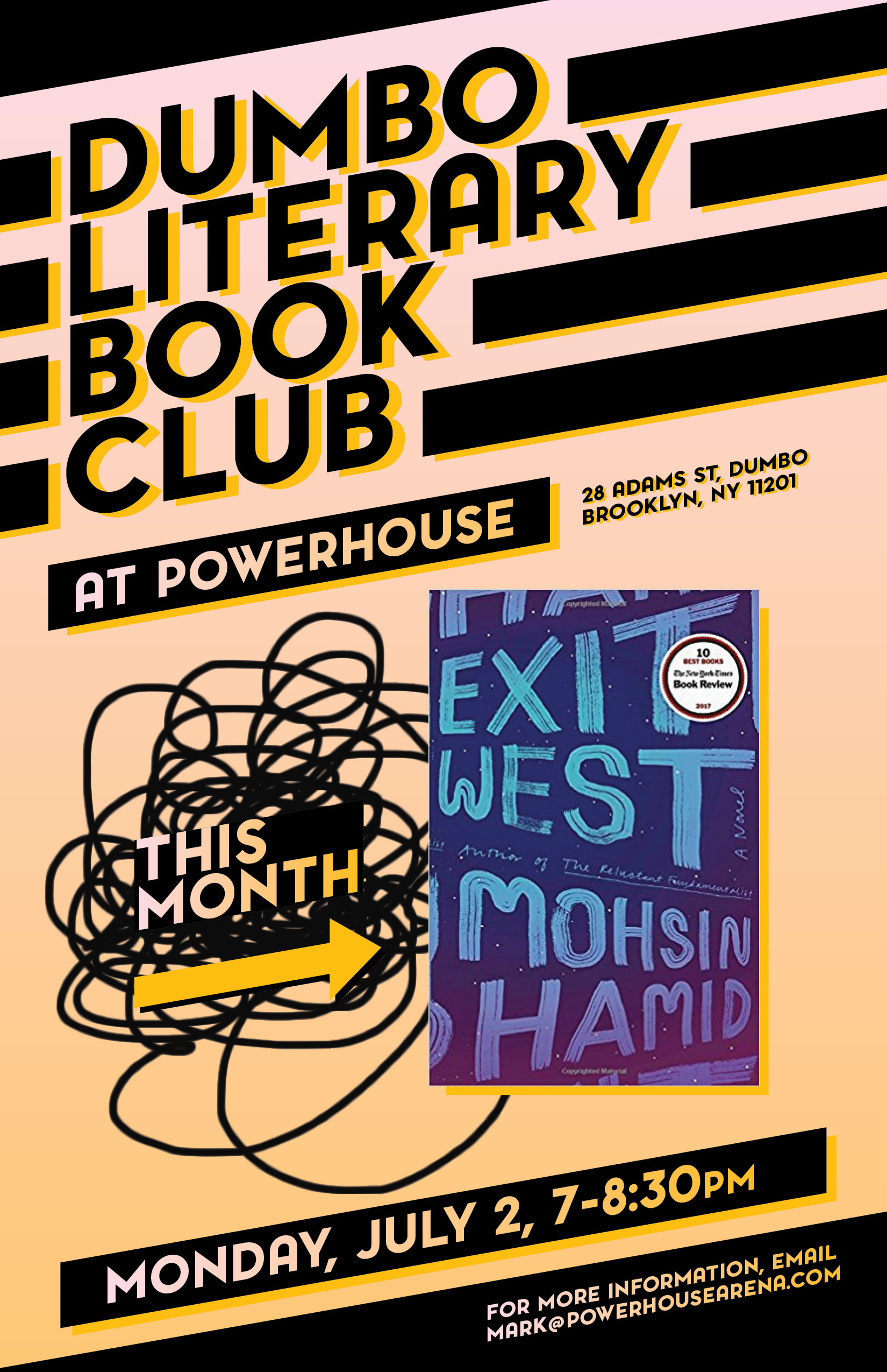 Dumbo Lit Book Club: Exit West by Mohsin Hamid