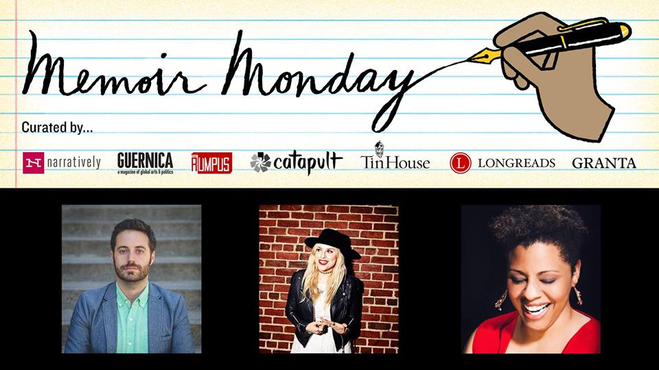 Memoir Monday: Featuring Readings by Garrard Conley, Lane Moore, and Tracey Lynn Lloyd — Hosted by Lilly Dancyger