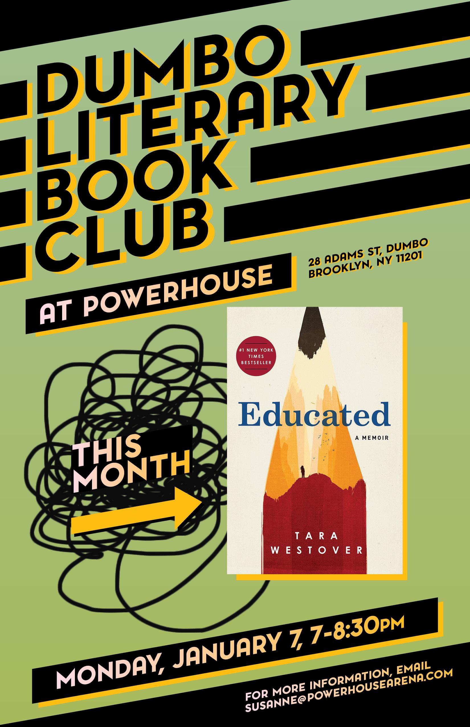 Dumbo Lit Book Club: Educated by Tara Westover