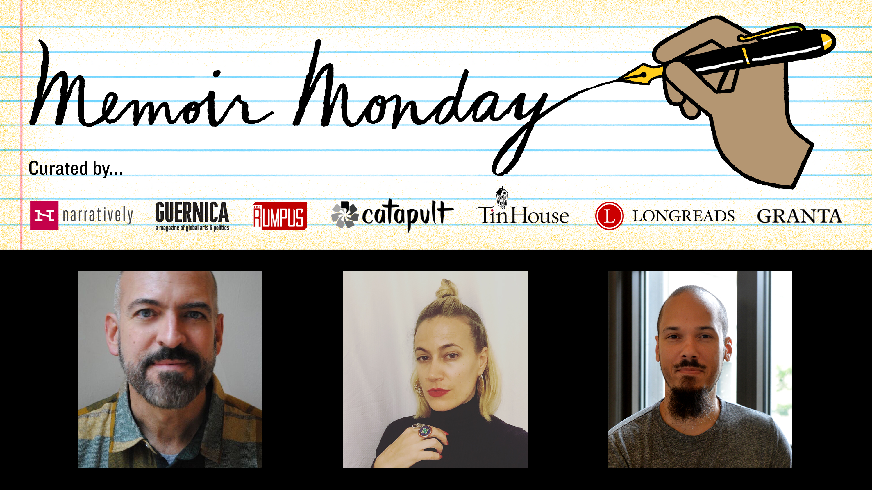 Memoir Monday: Featuring Readings by Paul Lisicky, Nina St. Pierre, and Alcy Leyva — Hosted by Lilly Dancyger