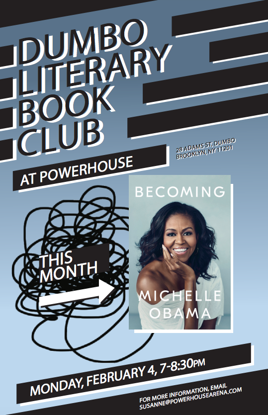 Dumbo Lit Book Club: Becoming by Michelle Obama
