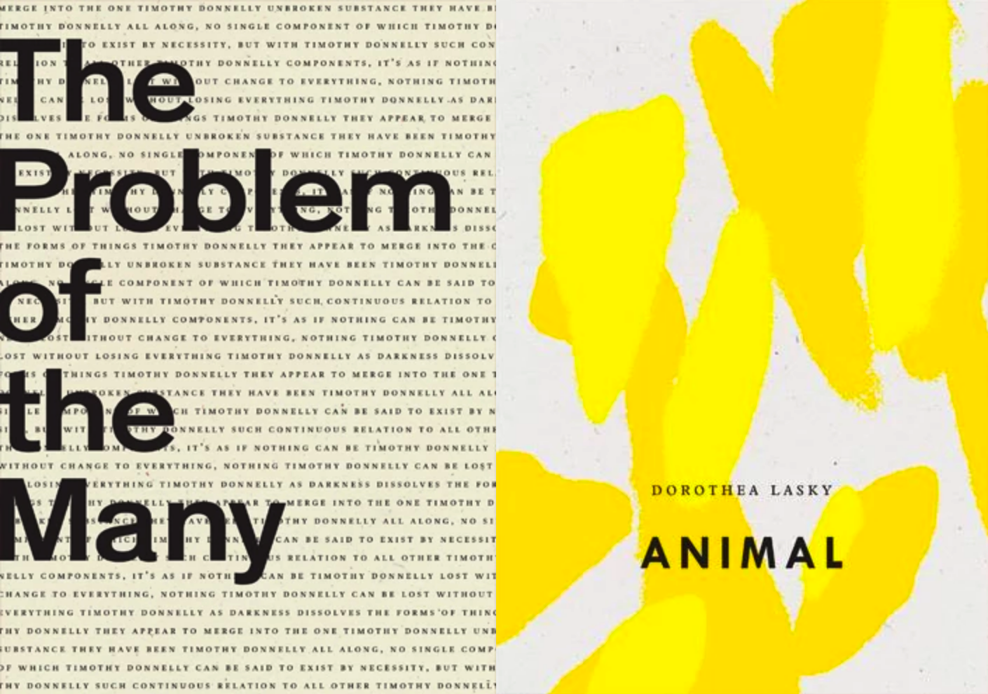 Joint Book Launch: The Problem of the Many by Timothy Donnelly & Animal by Dorothea Lasky