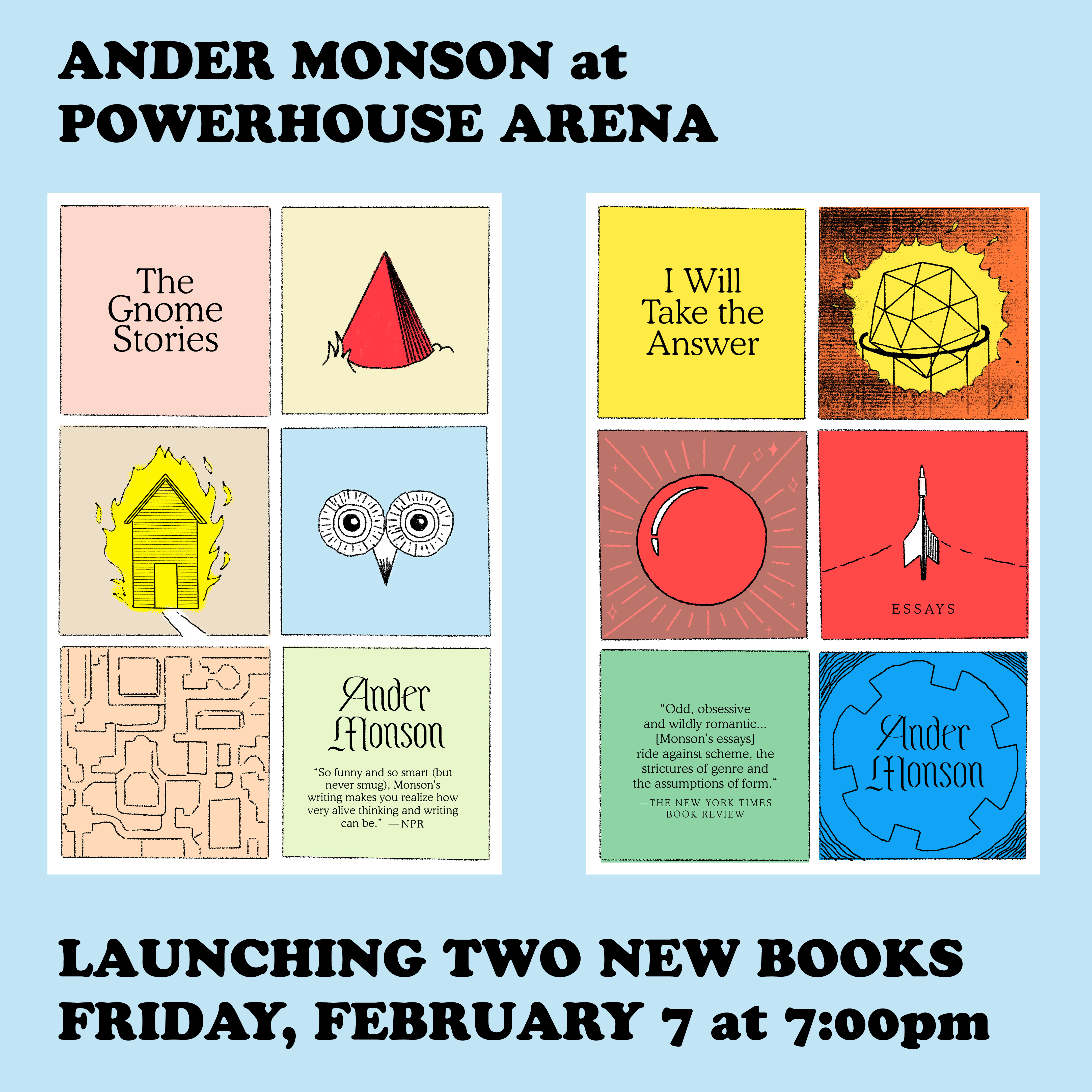 Book Launch: The Gnome Stories and I Will Take The Answer by Ander Monson