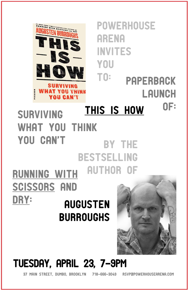 Paperback Launch: This is How by Augusten Burroughs