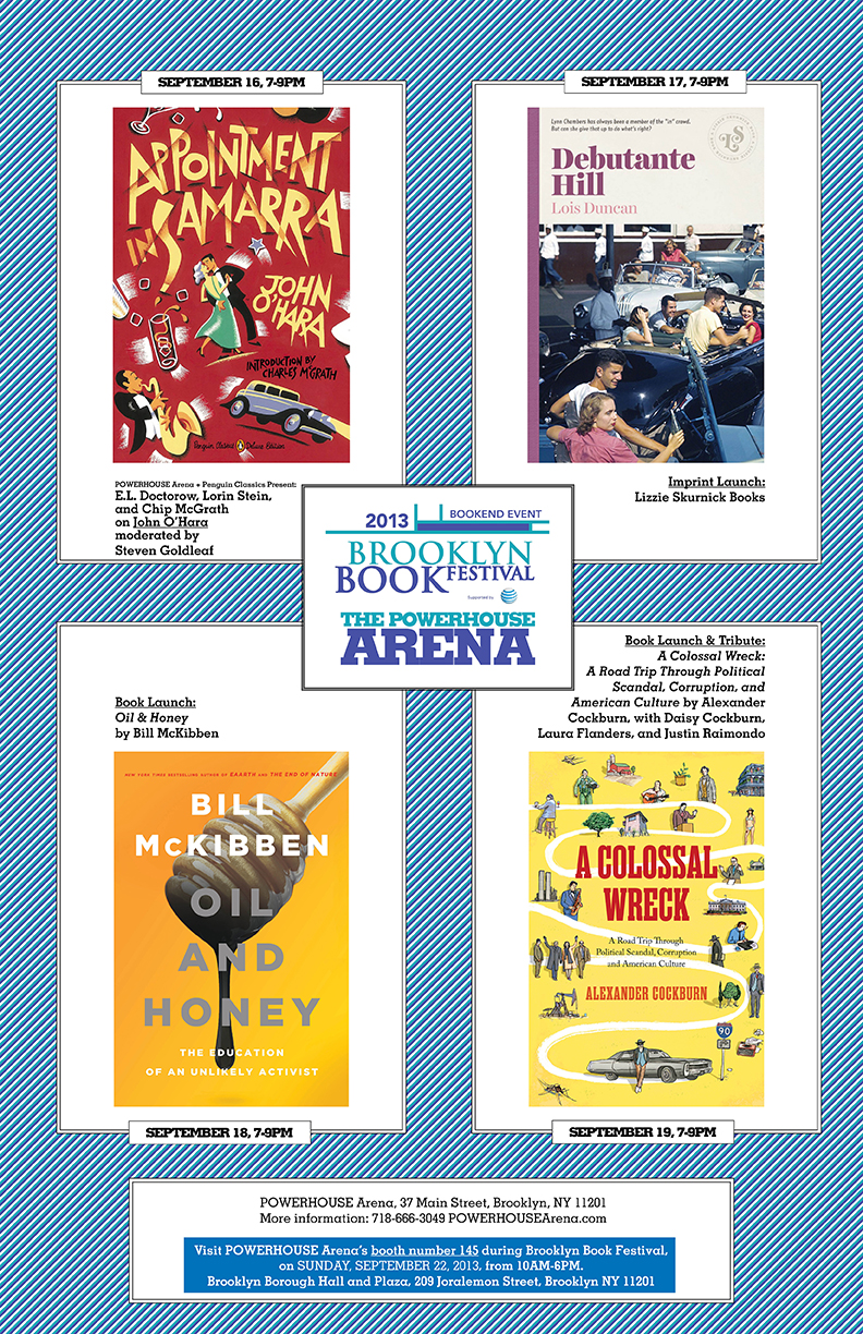 Brooklyn Book Festival Bookend Events at POWERHOUSE Arena