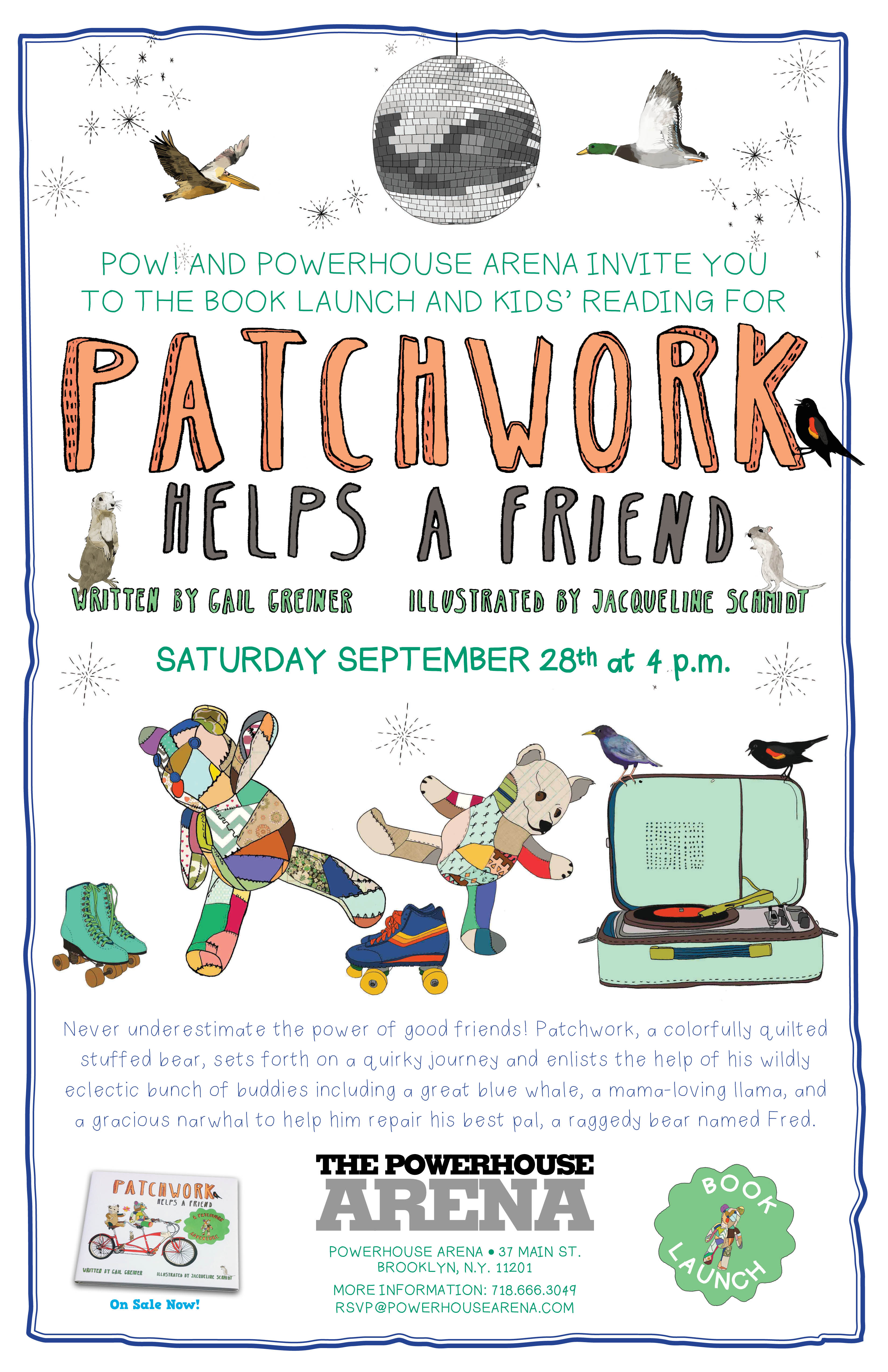 Book Launch: Patchwork Helps a Friend illustrated by Jacqueline Schmidt