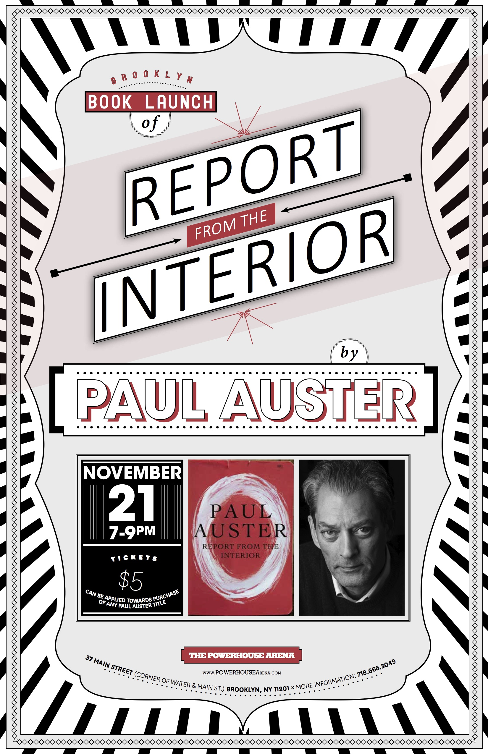 Brooklyn Book Launch: Report from the Interior by Paul Auster