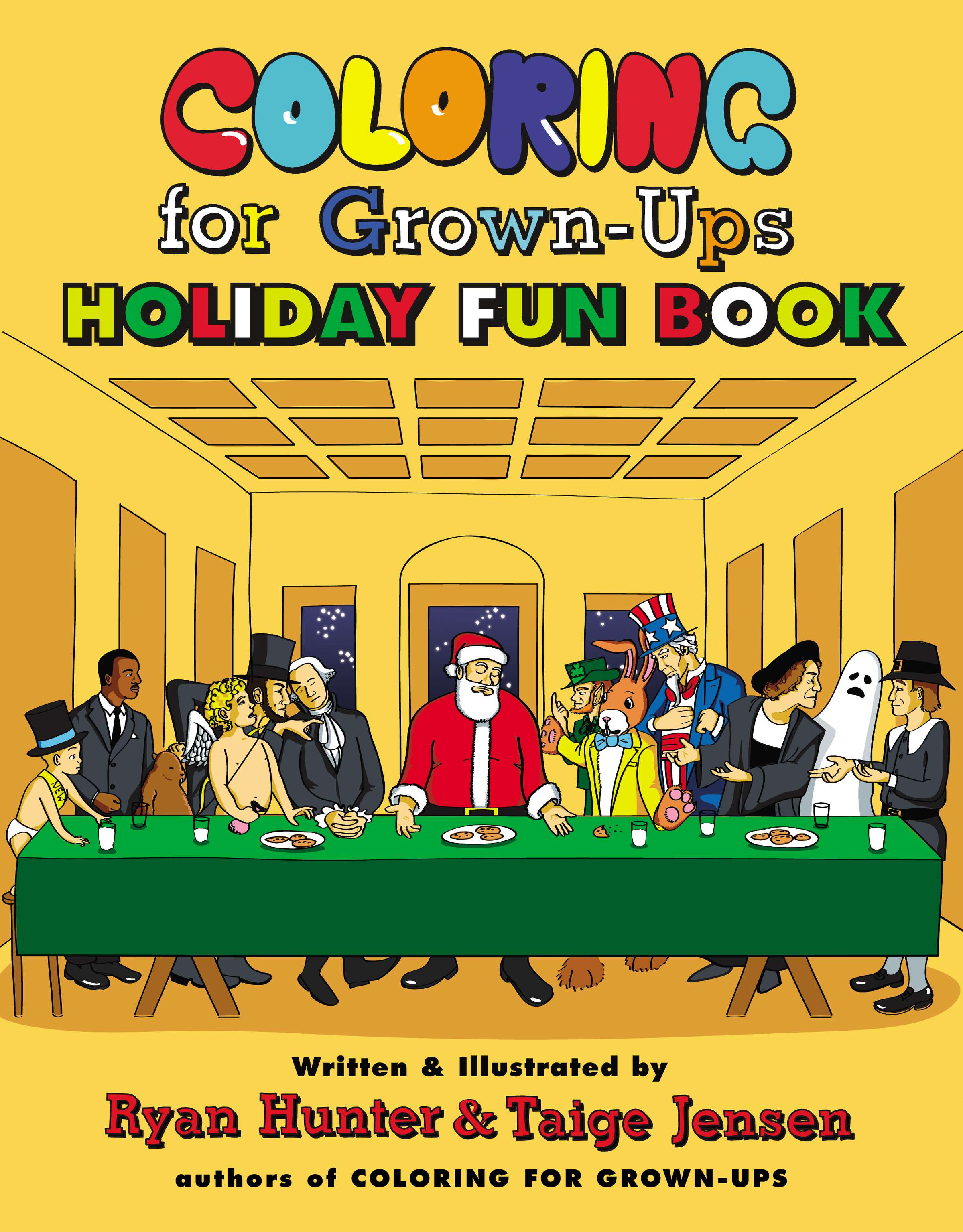 Holiday Book Party Coloring For Grown Ups Fun By Ryan Hunter