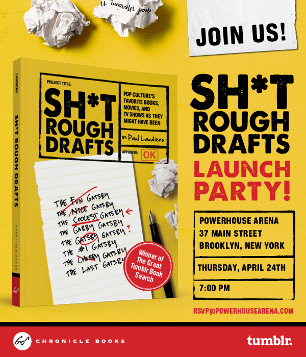 Book Launch: Sh*t Rough Drafts by Paul Laudiero, hosted by Tim Manley of Alice in Tumblr-land