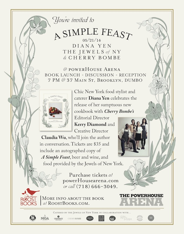 Cookbook Launch: A Simple Feast by Diana Yen, with Cherry Bombe's Kerry Diamond and Claudia Wu