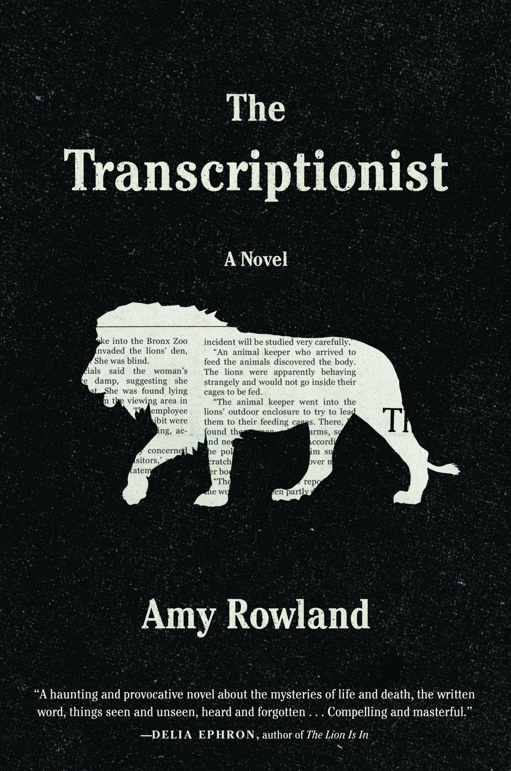 Book Launch: The Transcriptionist by Amy Rowland