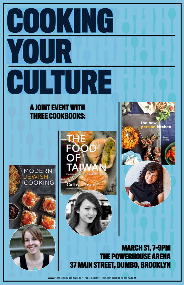 Book Launch Party: Cooking Your Culture with Leah Koenig, Louisa Shafia and Cathy Erway in discussion with  Beth Kracklauer