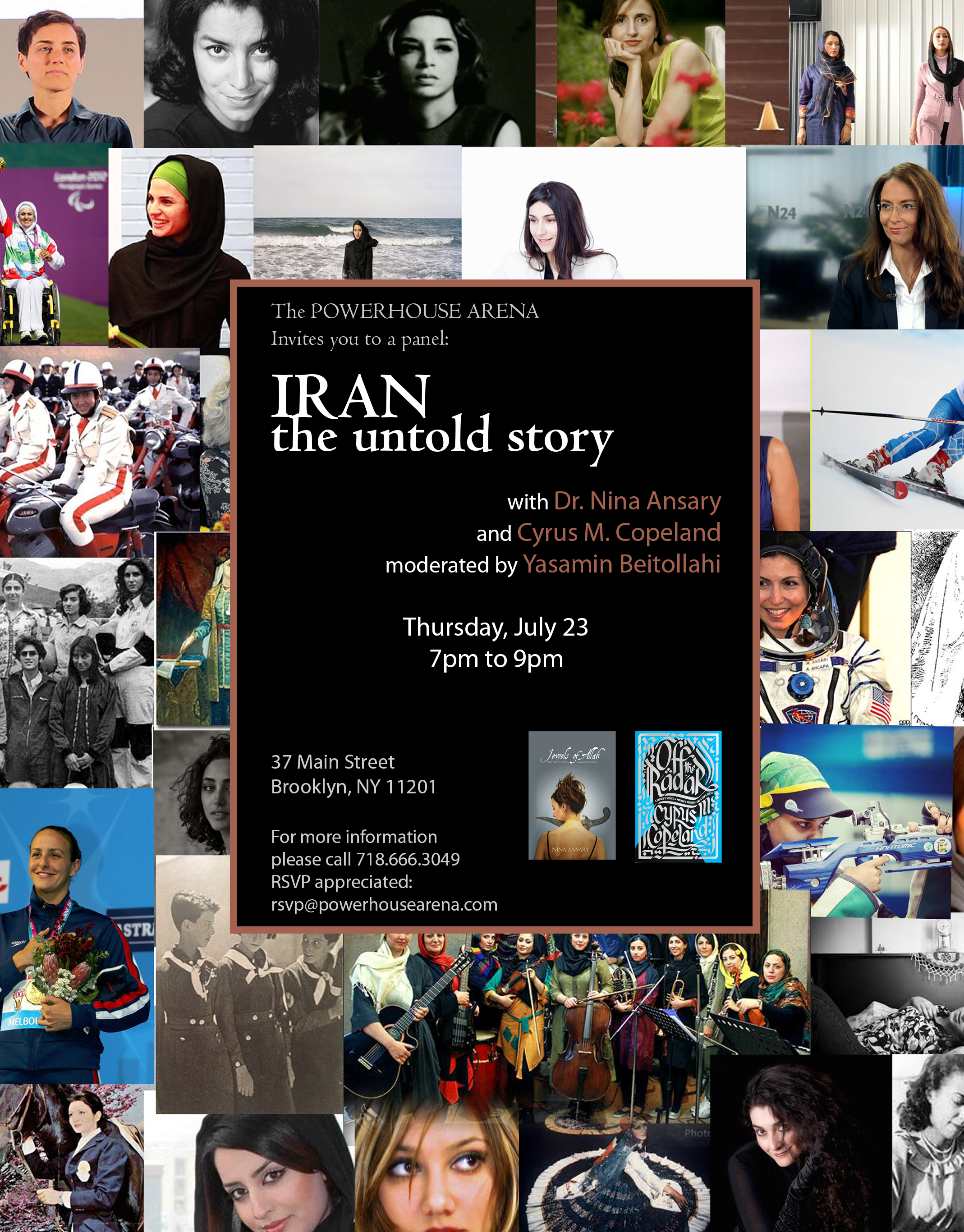 Book Launch and Panel Discussion: Iran – The Untold Story with Dr. Nina Ansary and Cyrus M. Copeland moderated by Yasiman Beitollahi