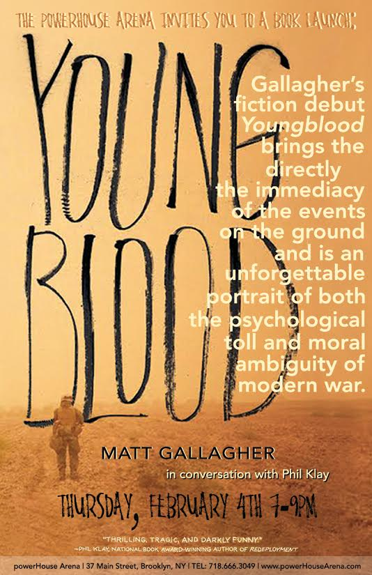Book Launch: Youngblood by Matt Gallagher in conversation with Phil Klay