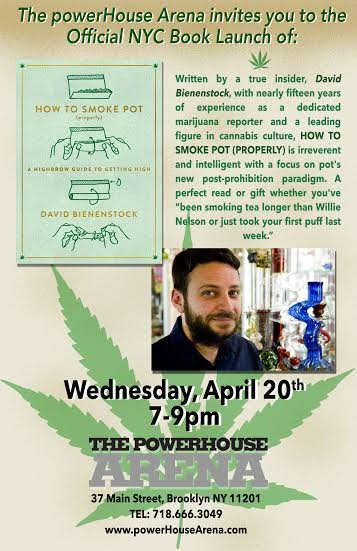Book Launch: How to Smoke Pot (Properly) by David Bienenstock