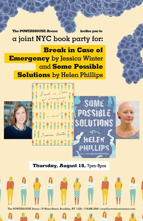 Joint Book Launch: Break in Case of Emergency by Jessica Winter and Some Possible Solutions by Helen Phillips