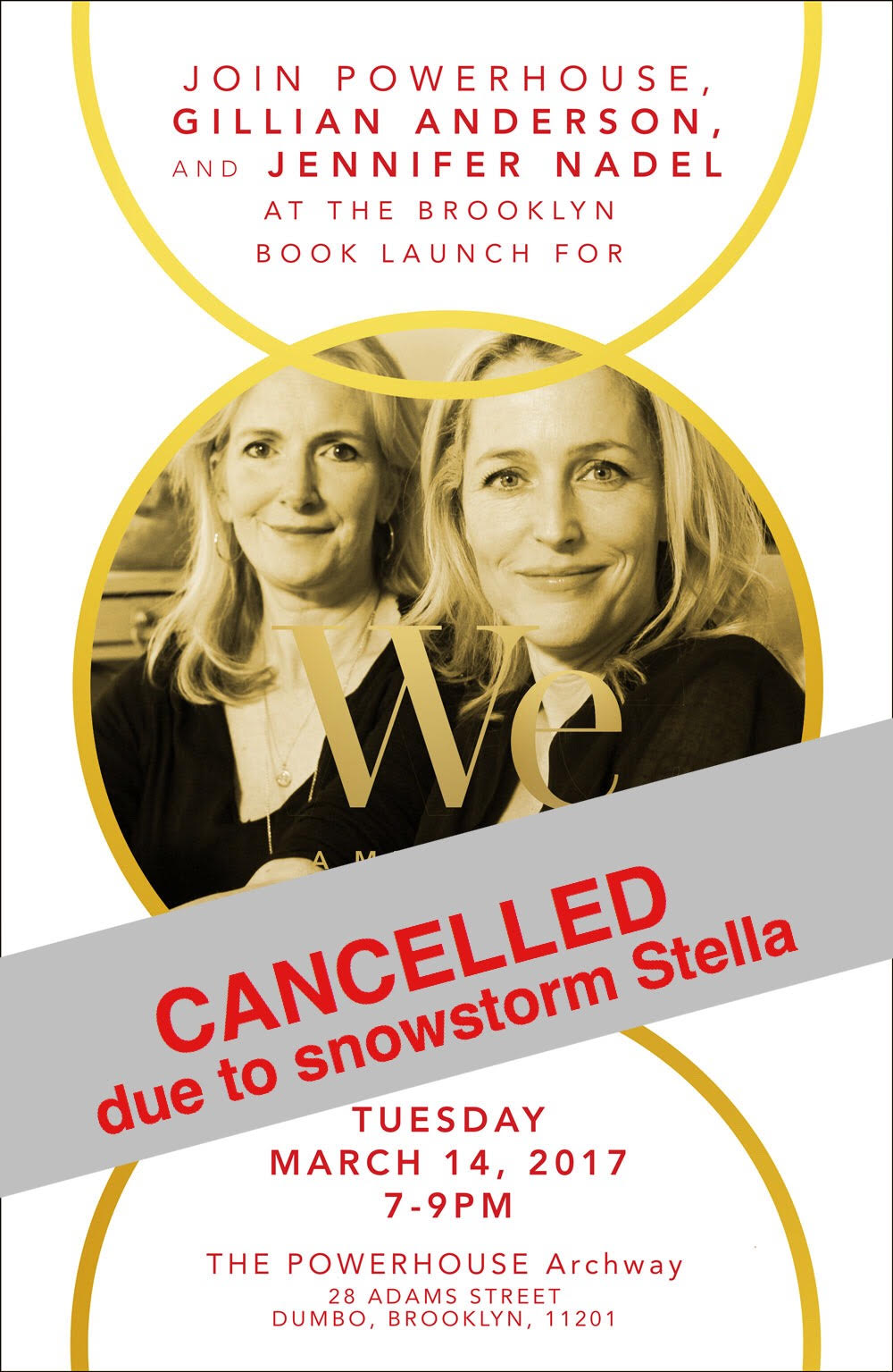 Brooklyn Book Launch: We: A Manifesto for Women Everywhere By Gillian Anderson and Jennifer Nadel
