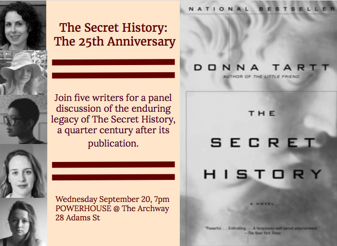 Literary Panel: 25th Anniversary of The Secret History by Donna Tartt