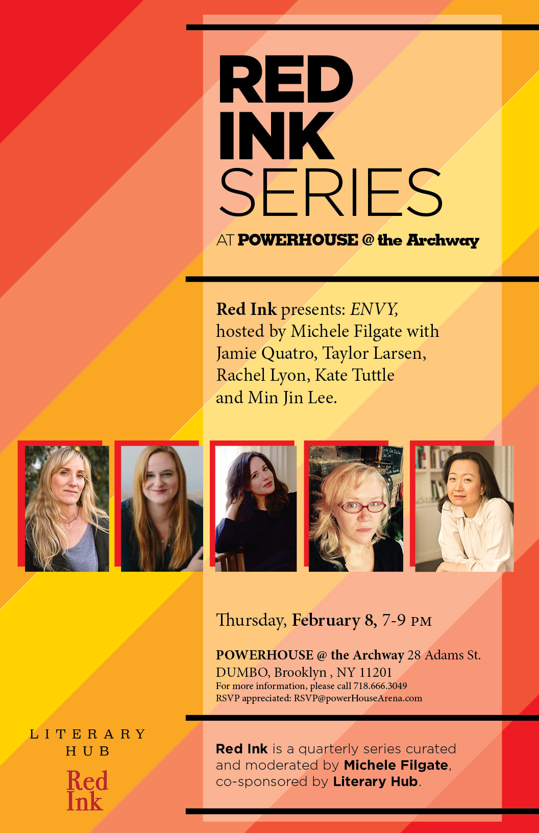 Red Ink Series: ENVY, hosted by Michele Filgate with Jamie Quatro, Taylor Larsen, Rachel Lyon, Kate Tuttle & Min Jin Lee