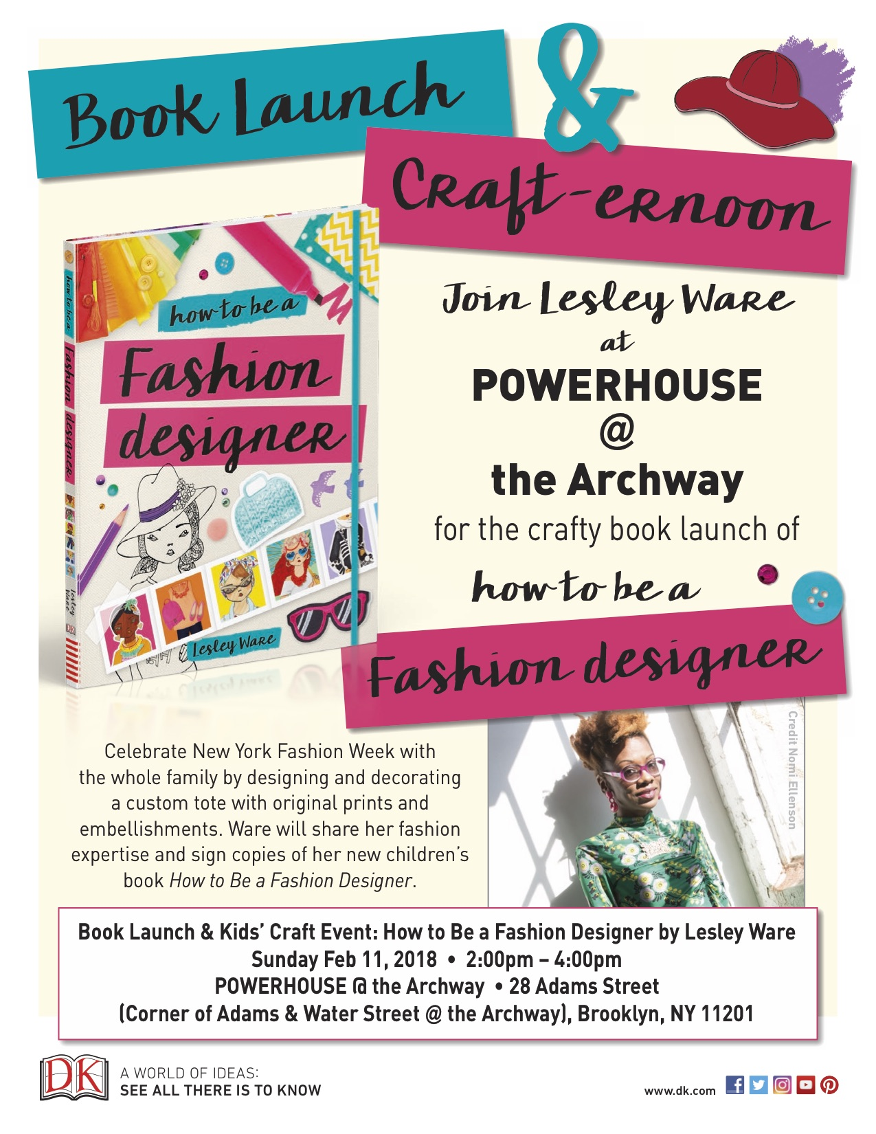 Book Launch Kids Craft Event How To Be A Fashion Designer By Lesley Ware Powerhouse Arena