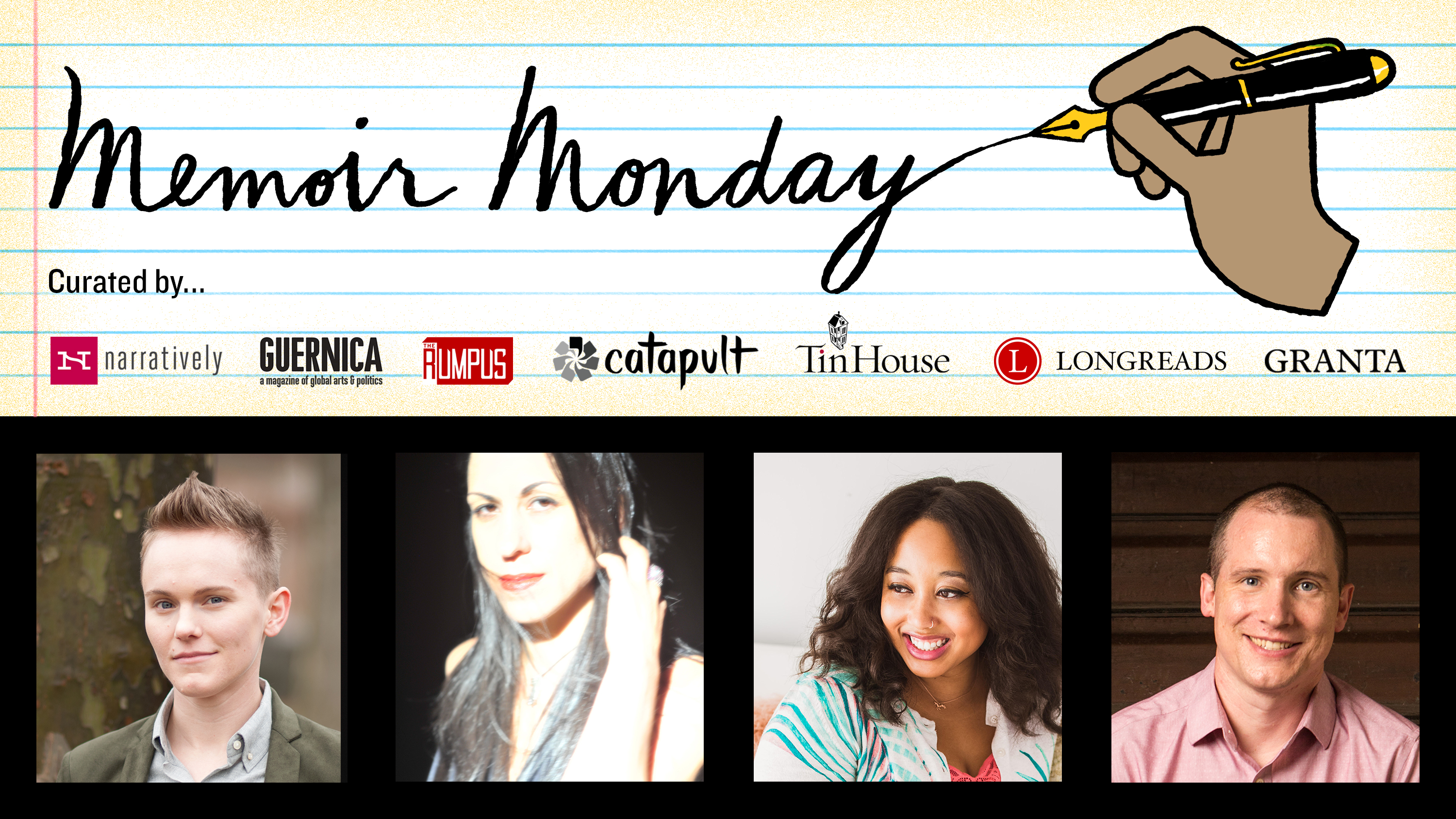 Memoir Monday: Featuring Sandra Allen, Nuar Alsadir, Minda Honey, & Tom McAllister — Hosted by Lilly Dancyger