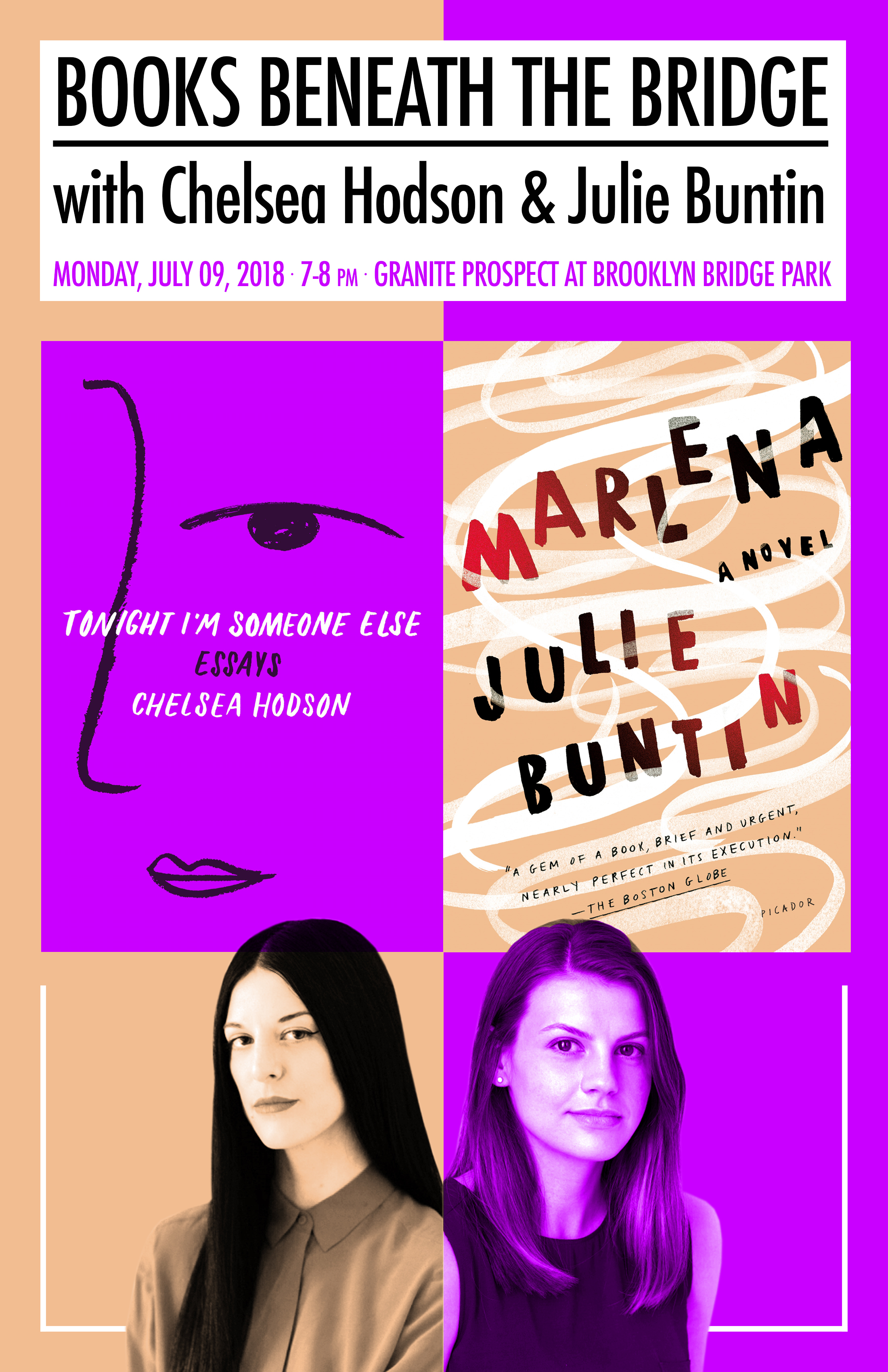 Books Beneath the Bridge with Chelsea Hodson & Julie Buntin