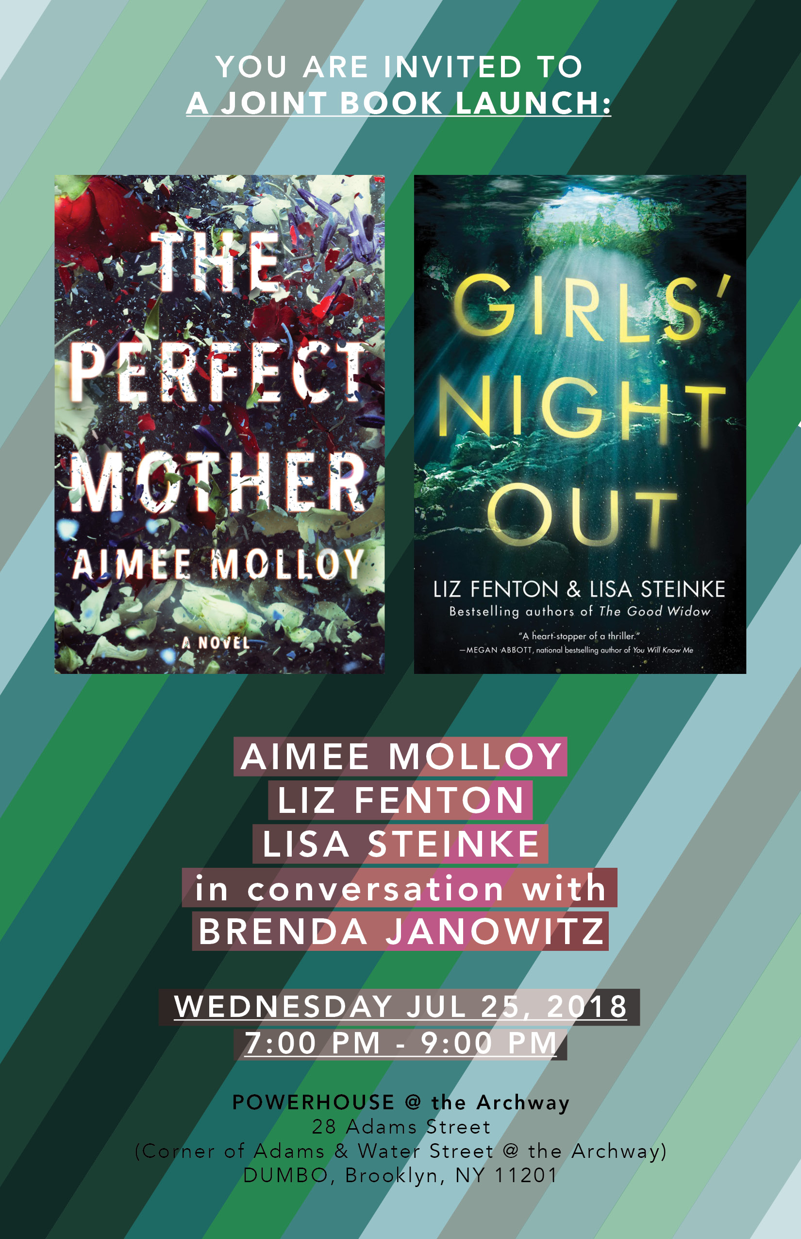 Joint Book Launch: The Perfect Mother by Aimee Molloy & Girls' Night Out by Liz Fenton & Lisa Steinke — in conversation w/ Brenda Janowitz
