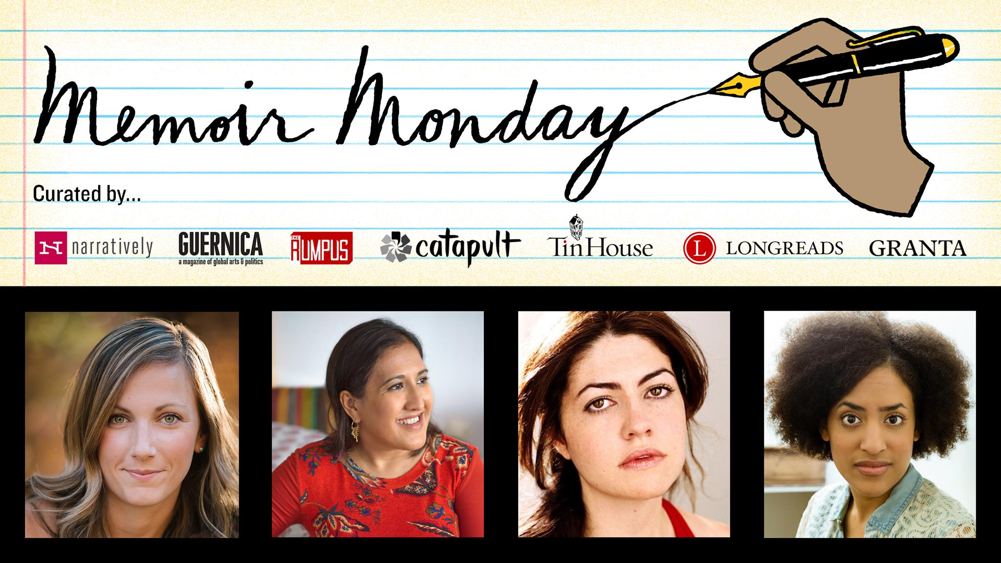 Memoir Monday: Featuring Tessa Fontaine, Kavita Das, Lacy Warner, & Brittany K. Allen — Hosted by Lilly Dancyger