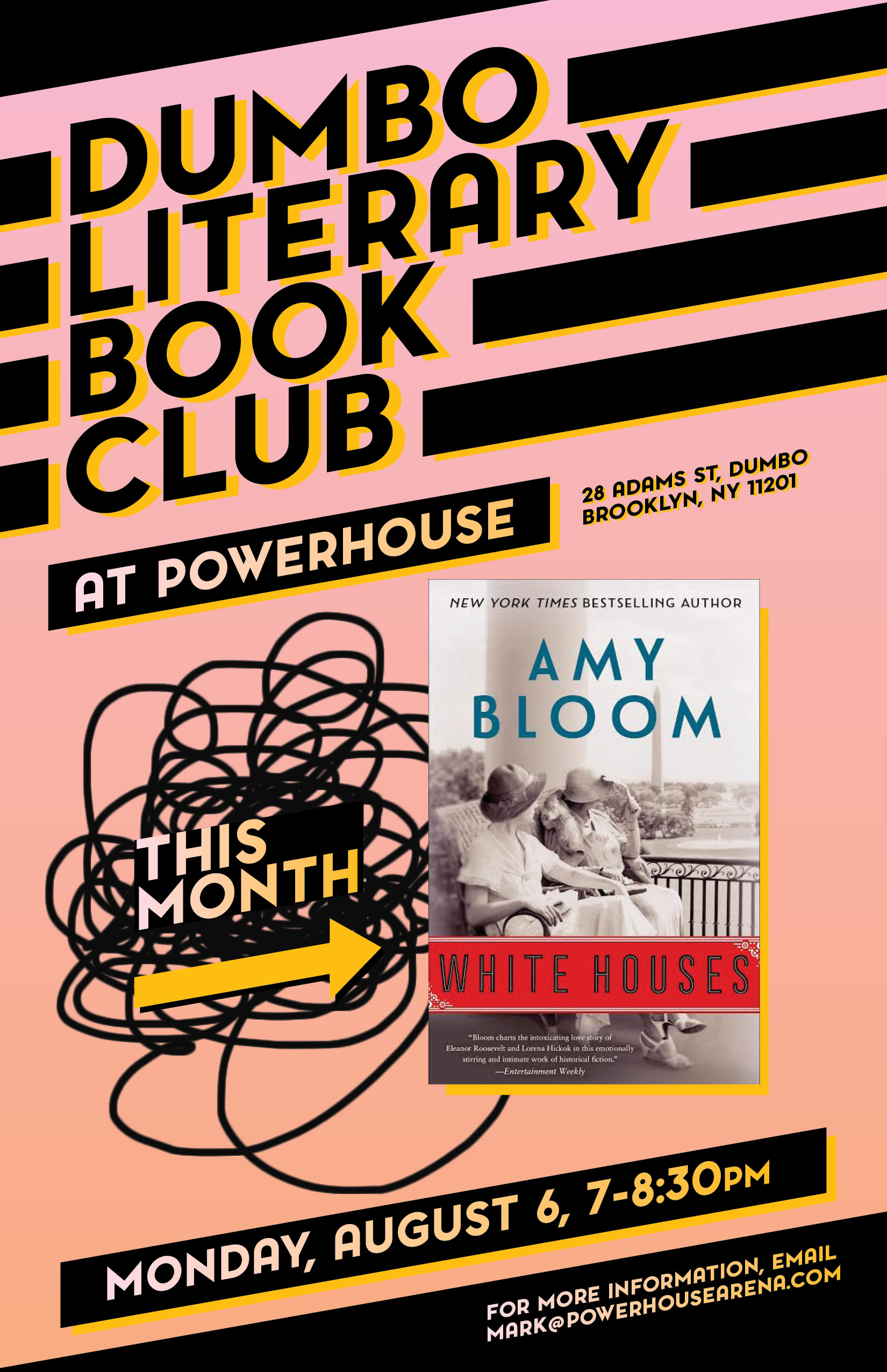 Dumbo Lit Book Club: White Houses by Amy Bloom