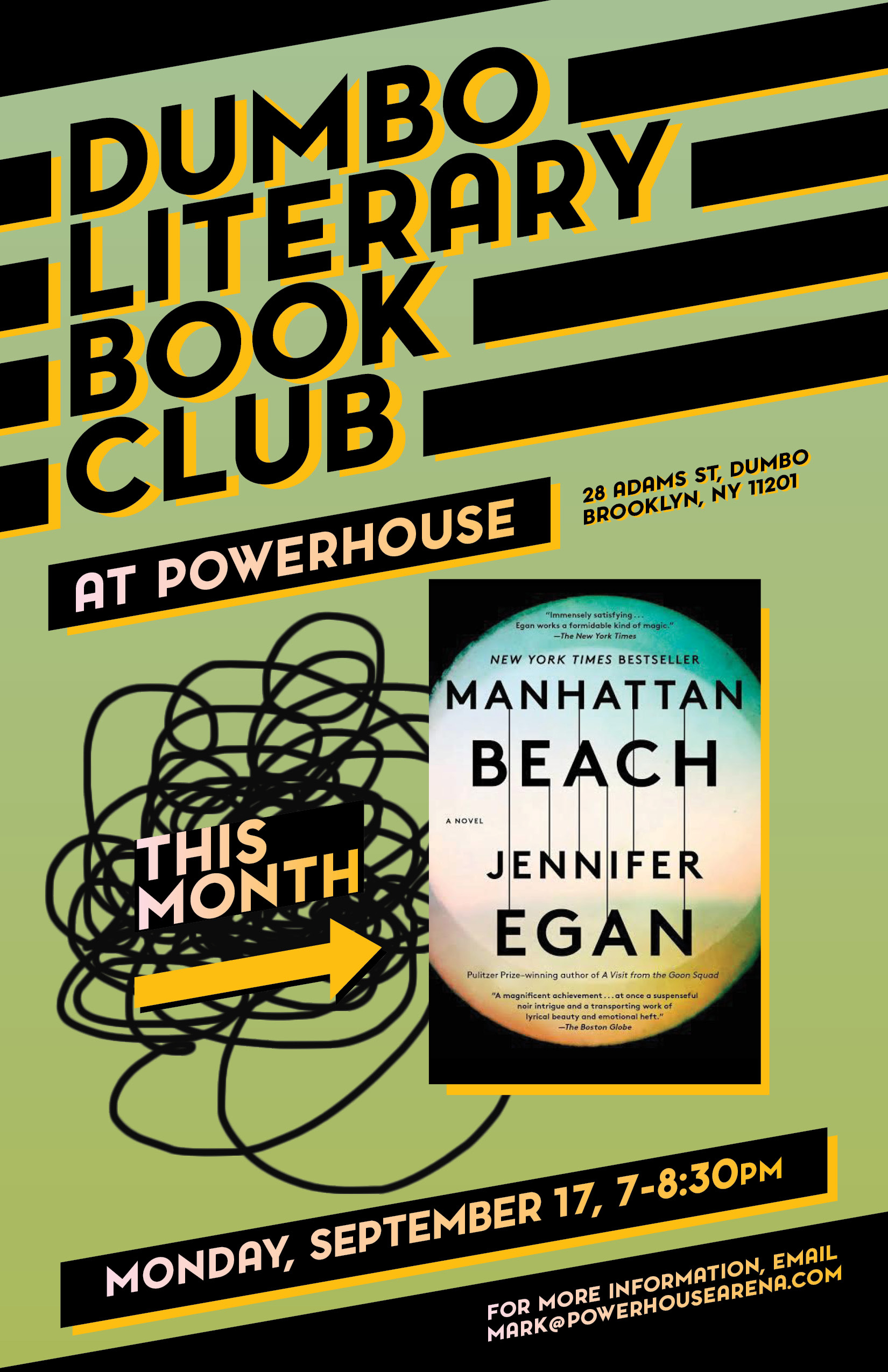 Dumbo Lit Book Club: Manhattan Beach by Jennifer Egan