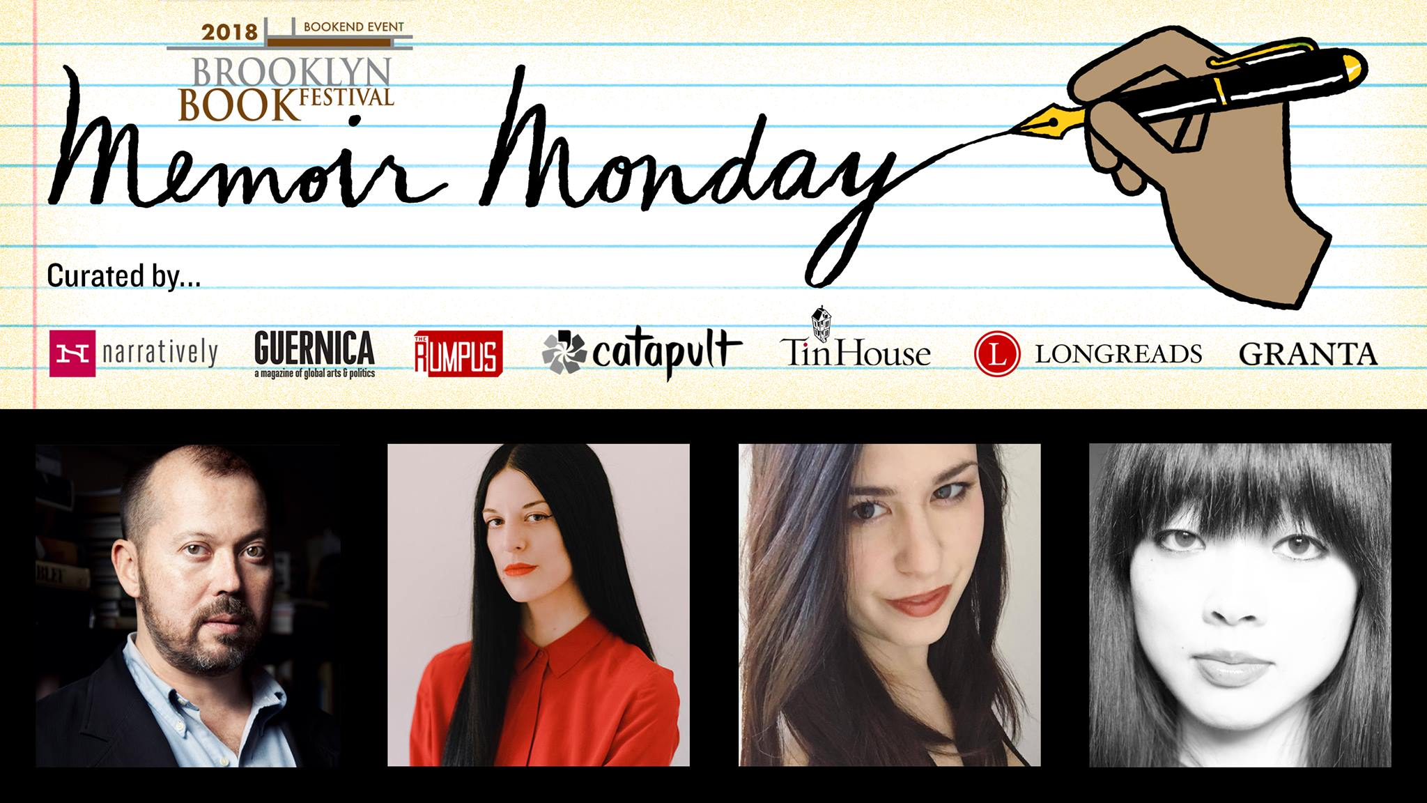 BROOKLYN BOOK FEST BOOKEND EVENT: Memoir Monday: Featuring Chelsea Hodson, Tracy O'Neill, & Lisa Marie Basile — Hosted by Lilly Dancyger