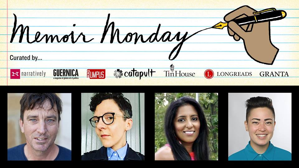 Memoir Monday: Featuring Readings by Sabrina Imbler, Nina Sharma, Alexandria Marzano-Lesnevich and Nick Flynn — Hosted by Lilly Dancyger