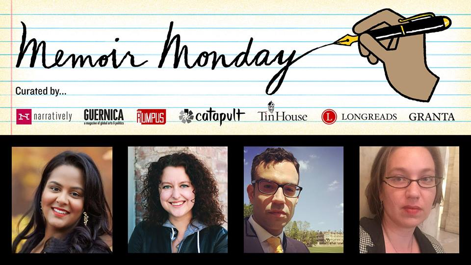Memoir Monday with Krystal Sital, Jeanna Kadlec, Danny Rafinejad and Briallen Hopper