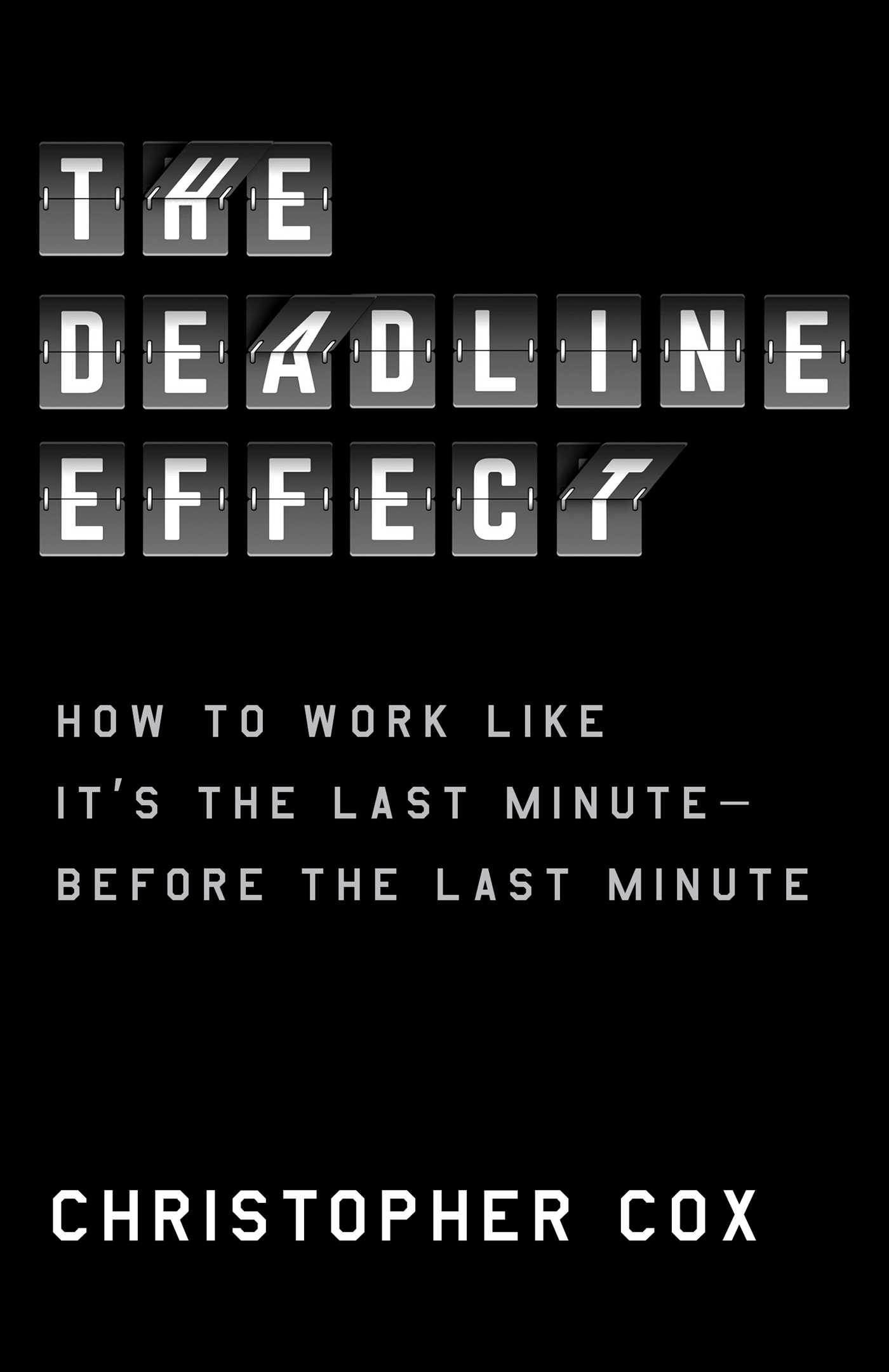 Book Launch: The Deadline Effect by Christopher Cox introduced by Gideon Lewis-Kraus